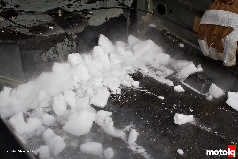 Project LSR dry ice to remove sound deadening