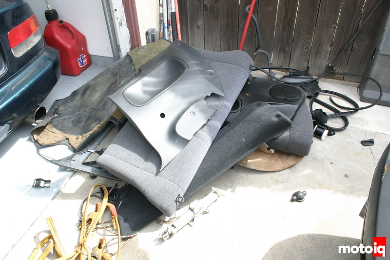 Project LSR interior removed