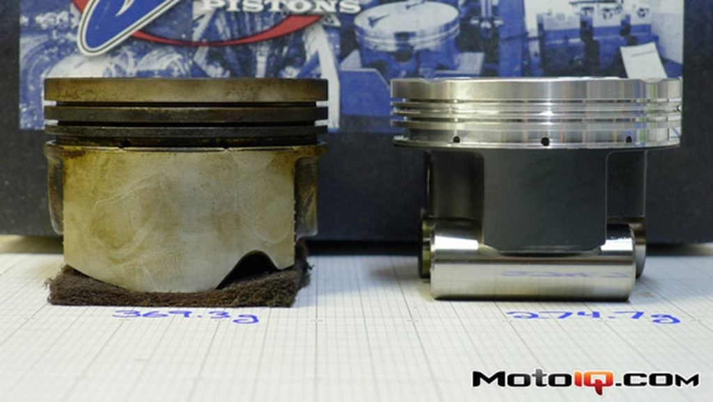 JE Pistons SR20 pistons compared to OEM Nissan