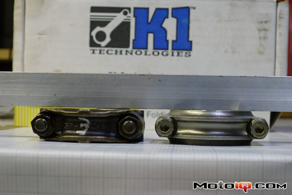 K1 connecting rods compared to OEM Nissan