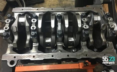 NB2 BP-VE crank installed in block