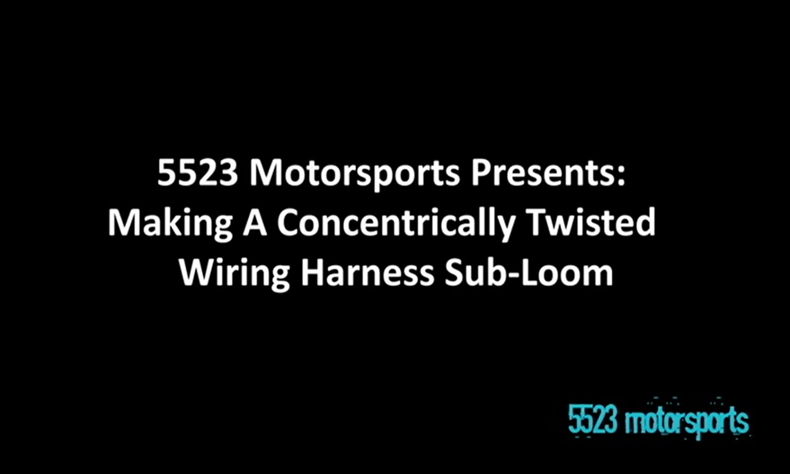 Building a concentrically twisted wiring harness