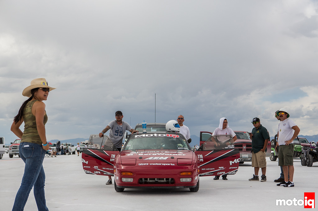 Project LSR 240sx waiting in line World of Speed Bonneville